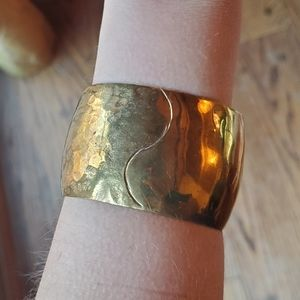 Jewelry - *RARE* Vintage Celia Harms Hammered Brass Cuff